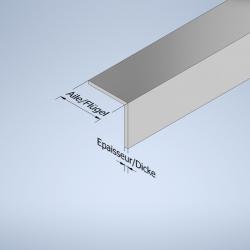 Profil équerre à aile égale aluminium
