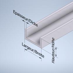 Profil U aluminium