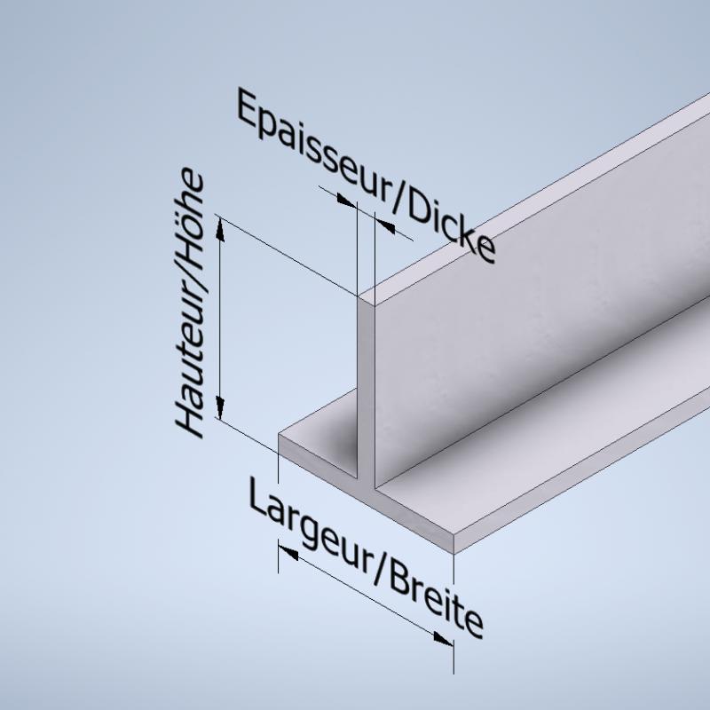 Profil T aluminium