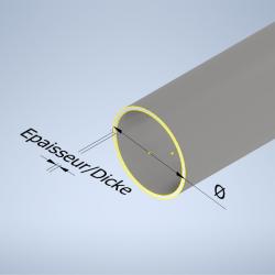 Tube à gaz et à eau galvanisé