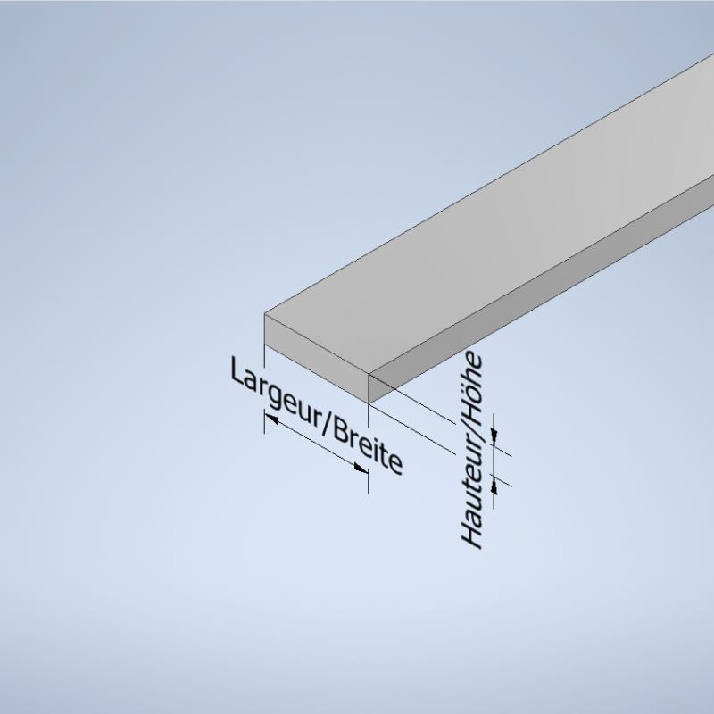 Profiles méplat aluminium