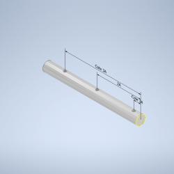 Barre aluminium ronde perçage