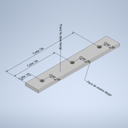 Profile méplat aluminium perçage