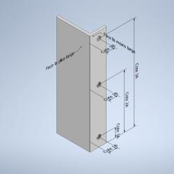 Profil équerre à aile inégale aluminium perçage